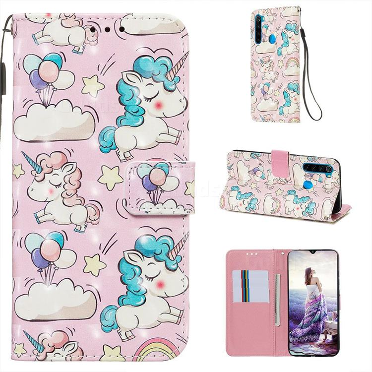 Angel Pony 3D Painted Leather Wallet Case for Mi Xiaomi Redmi Note 8