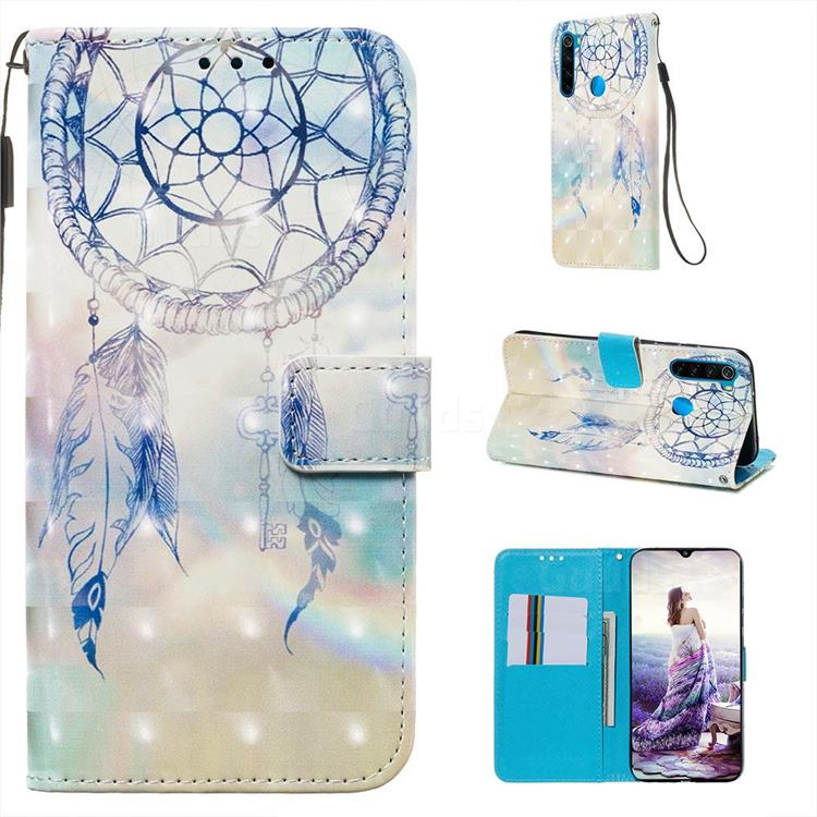 Fantasy Campanula 3D Painted Leather Wallet Case for Mi Xiaomi Redmi Note 8