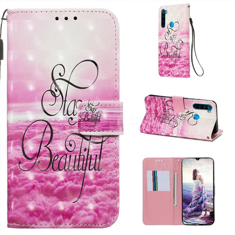 Beautiful 3D Painted Leather Wallet Case for Mi Xiaomi Redmi Note 8