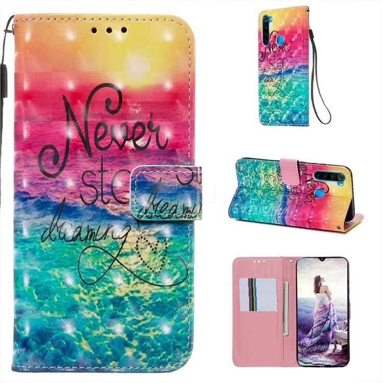 Colorful Dream Catcher 3D Painted Leather Wallet Case for Mi Xiaomi Redmi Note 8
