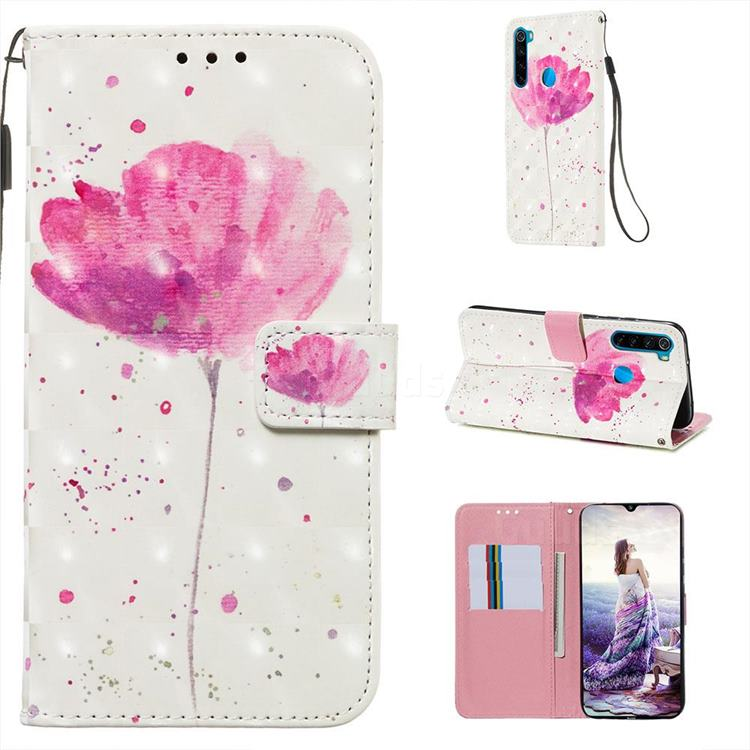 Watercolor 3D Painted Leather Wallet Case for Mi Xiaomi Redmi Note 8