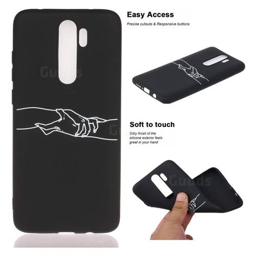 Handshake Chalk Drawing Matte Black Tpu Phone Cover For Mi Xiaomi Redmi Note 8 Pro Xiaomi Redmi Note 8 Pro Cases Guuds
