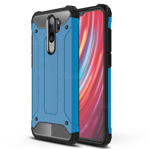 King Kong Armor Premium Shockproof Dual Layer Rugged Hard Cover for Mi Xiaomi Redmi Note 8 Pro - Sky Blue