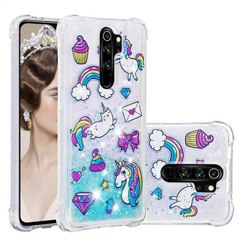 Fashion Unicorn Dynamic Liquid Glitter Sand Quicksand Star TPU Case for Mi Xiaomi Redmi Note 8 Pro