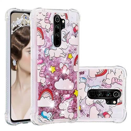 Angel Pony Dynamic Liquid Glitter Sand Quicksand Star TPU Case for Mi Xiaomi Redmi Note 8 Pro