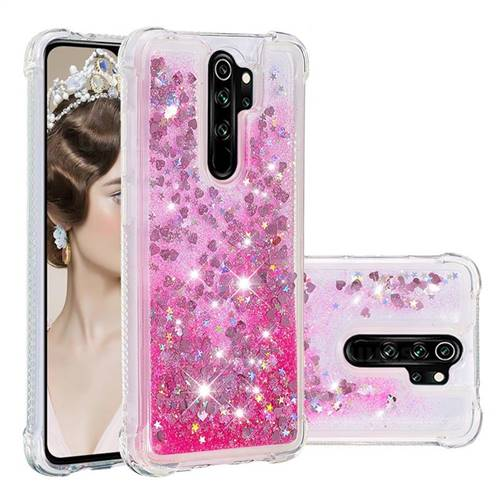 Dynamic Liquid Glitter Sand Quicksand TPU Case for Mi Xiaomi Redmi Note 8 Pro - Pink Love Heart