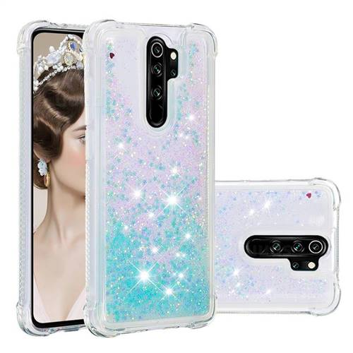 Dynamic Liquid Glitter Sand Quicksand TPU Case for Mi Xiaomi Redmi Note 8 Pro - Silver Blue Star