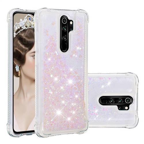 Dynamic Liquid Glitter Sand Quicksand Star TPU Case for Mi Xiaomi Redmi Note 8 Pro - Pink