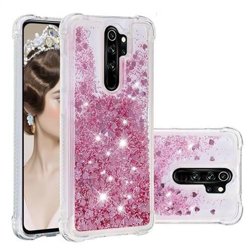 Dynamic Liquid Glitter Sand Quicksand Star TPU Case for Mi Xiaomi Redmi Note 8 Pro - Diamond Rose