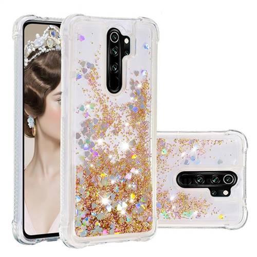 Dynamic Liquid Glitter Sand Quicksand Star TPU Case for Mi Xiaomi Redmi Note 8 Pro - Diamond Gold