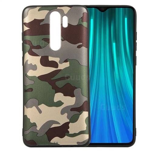 Camouflage Soft TPU Back Cover for Mi Xiaomi Redmi Note 8 Pro - Gold Green