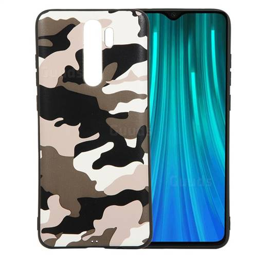 Camouflage Soft TPU Back Cover for Mi Xiaomi Redmi Note 8 Pro - Black White