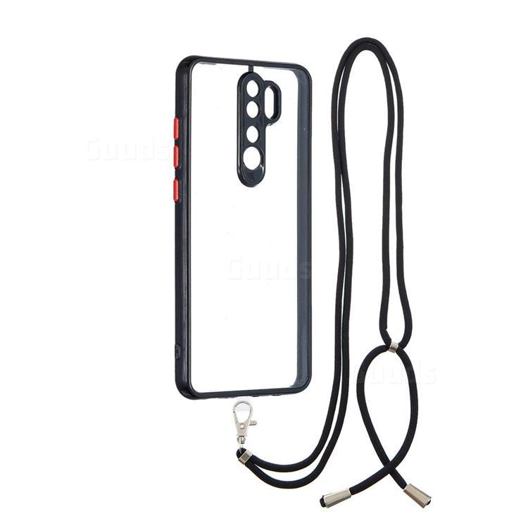 Necklace Cross-body Lanyard Strap Cord Phone Case Cover for Mi Xiaomi Redmi Note 8 Pro - Black