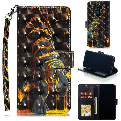Tiger Totem 3D Painted Leather Phone Wallet Case for Mi Xiaomi Redmi Note 8 Pro