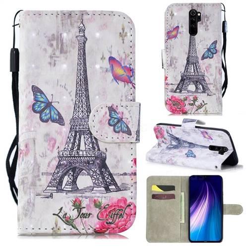 Paris Tower 3D Painted Leather Wallet Phone Case for Mi Xiaomi Redmi Note 8 Pro