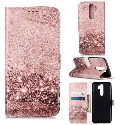Glittering Rose Gold PU Leather Wallet Case for Mi Xiaomi Redmi Note 8 Pro