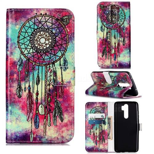 Butterfly Chimes PU Leather Wallet Case for Mi Xiaomi Redmi Note 8 Pro
