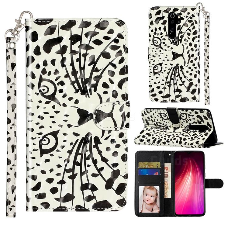 Leopard Panther 3D Leather Phone Holster Wallet Case for Mi Xiaomi Redmi Note 8 Pro