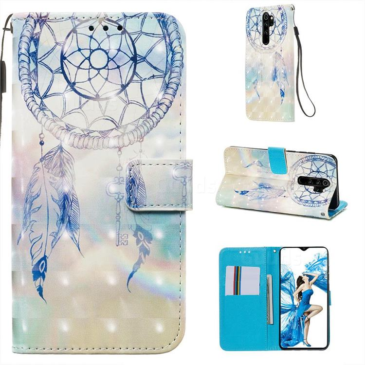 Fantasy Campanula 3D Painted Leather Wallet Case for Mi Xiaomi Redmi Note 8 Pro