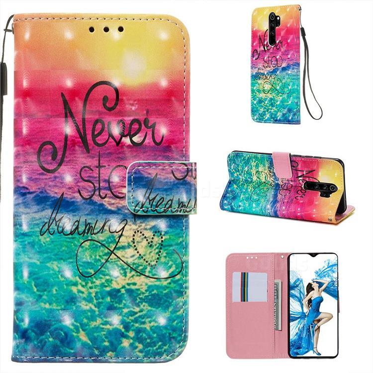 Colorful Dream Catcher 3D Painted Leather Wallet Case for Mi Xiaomi Redmi Note 8 Pro