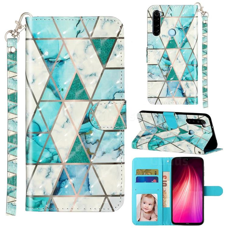 Stitching Marble 3D Leather Phone Holster Wallet Case for Mi Xiaomi Redmi Note 8T