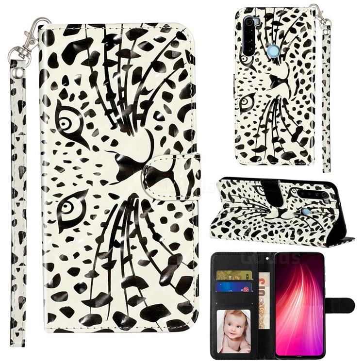 Leopard Panther 3D Leather Phone Holster Wallet Case for Mi Xiaomi Redmi Note 8T