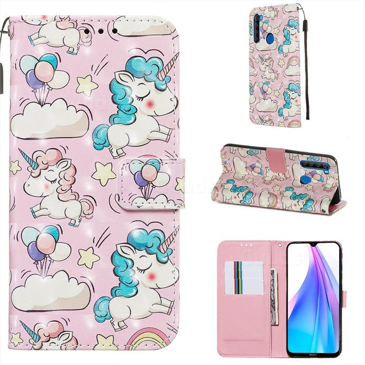 Angel Pony 3D Painted Leather Wallet Case for Mi Xiaomi Redmi Note 8T