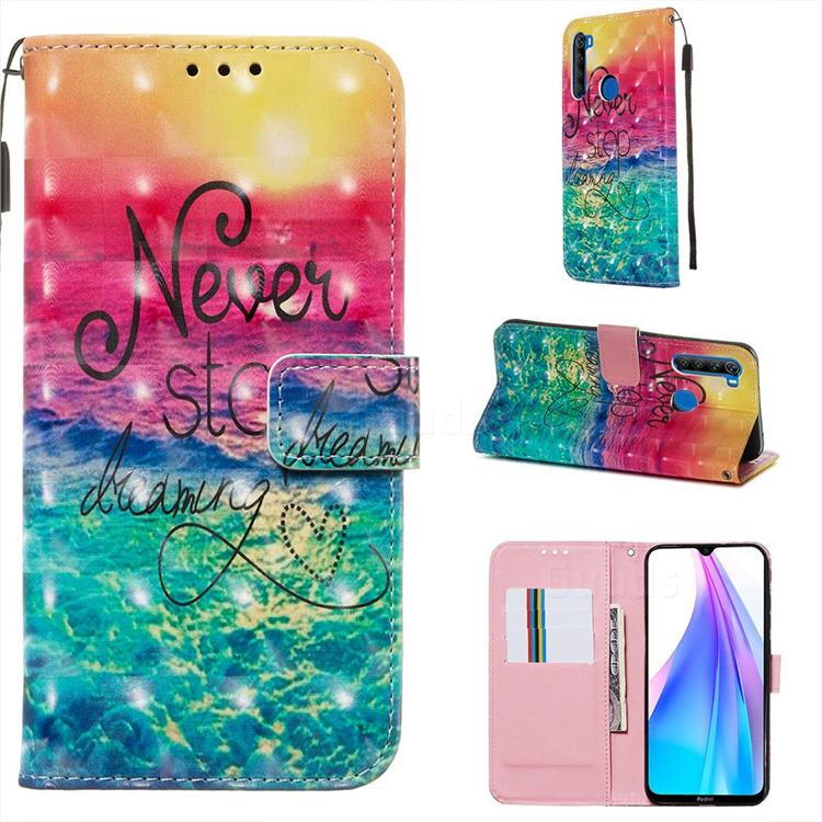 Colorful Dream Catcher 3D Painted Leather Wallet Case for Mi Xiaomi Redmi Note 8T