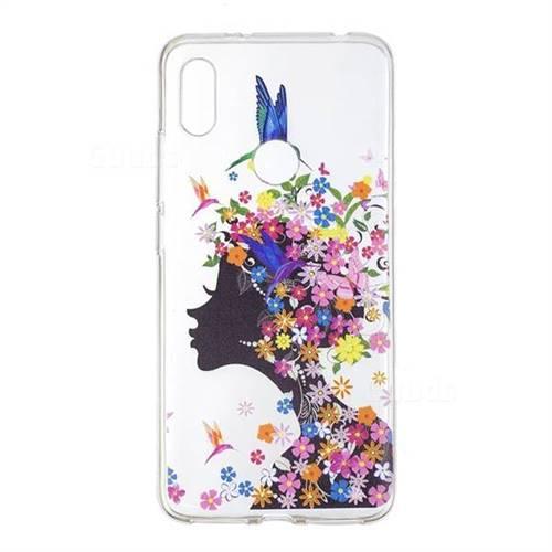 on sale 837e3 30eec Floral Bird Girl Super Clear Soft TPU Back Cover for Mi Xiaomi Redmi S2  (Redmi Y2)
