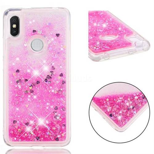 the best attitude 4f624 4b740 Dynamic Liquid Glitter Quicksand Sequins TPU Phone Case for Mi Xiaomi Redmi  S2 (Redmi Y2) - Rose