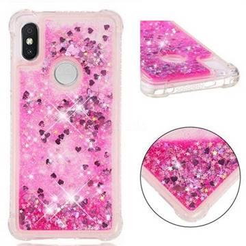 Dynamic Liquid Glitter Sand Quicksand TPU Case for Mi Xiaomi Redmi S2 (Redmi Y2) - Pink Love Heart