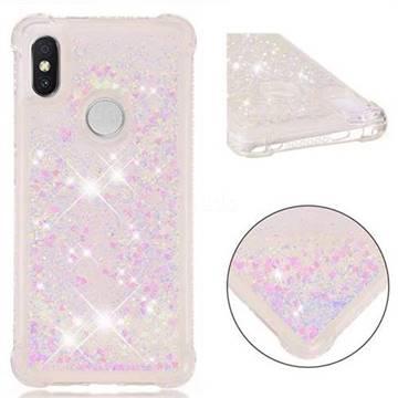 Dynamic Liquid Glitter Sand Quicksand Star TPU Case for Mi Xiaomi Redmi S2 (Redmi Y2) - Pink