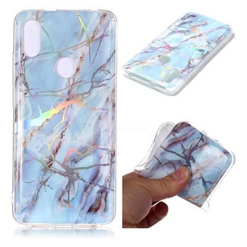 Light Blue Marble Pattern Bright Color Laser Soft TPU Case for Mi Xiaomi Redmi S2 (Redmi Y2)