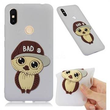 Bad Boy Owl Soft 3D Silicone Case for Mi Xiaomi Redmi S2 (Redmi Y2) - Translucent White