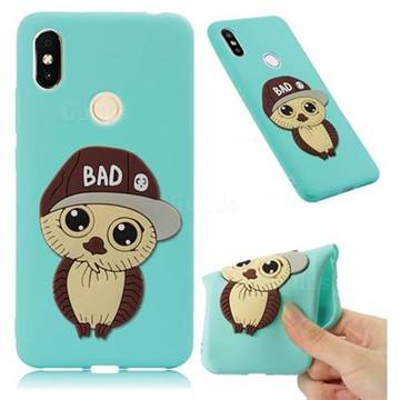 Bad Boy Owl Soft 3D Silicone Case for Mi Xiaomi Redmi S2 (Redmi Y2) - Sky Blue