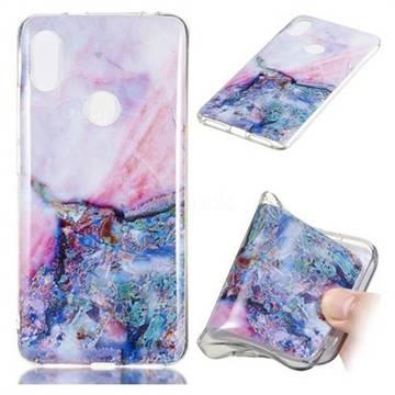 Purple Amber Soft TPU Marble Pattern Phone Case for Mi Xiaomi Redmi S2 (Redmi Y2)
