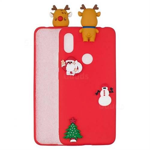 Red Elk Christmas Xmax Soft 3D Silicone Case for Mi Xiaomi Redmi S2 (Redmi Y2)