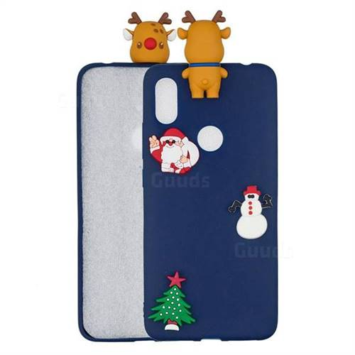 Navy Elk Christmas Xmax Soft 3D Silicone Case for Mi Xiaomi Redmi S2 (Redmi Y2)