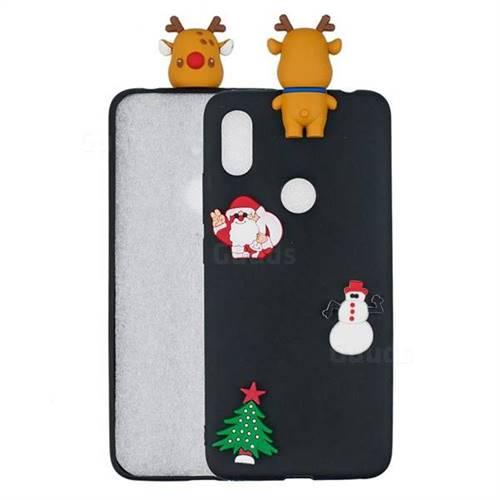 Black Elk Christmas Xmax Soft 3D Silicone Case for Mi Xiaomi Redmi S2 (Redmi Y2)