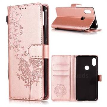 the best attitude fea8e 1b0bf Intricate Embossing Dandelion Butterfly Leather Wallet Case for Mi Xiaomi  Redmi S2 (Redmi Y2) - Rose Gold
