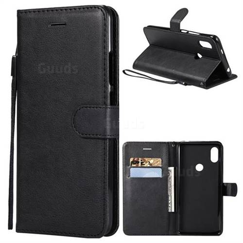Retro Greek Classic Smooth PU Leather Wallet Phone Case for Mi Xiaomi Redmi S2 (Redmi Y2) - Black