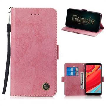 info for 453af c6593 Retro Classic Leather Phone Wallet Case Cover for Mi Xiaomi Redmi S2 (Redmi  Y2) - Pink