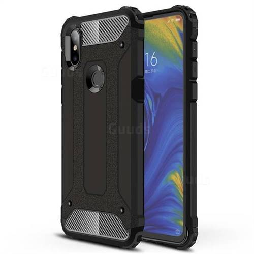 King Kong Armor Premium Shockproof Dual Layer Rugged Hard Cover for Xiaomi Mi Mix 3 - Black Gold