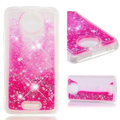 Dynamic Liquid Glitter Quicksand Sequins TPU Phone Case for Motorola Moto C - Rose
