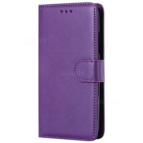 new product f40f8 6c936 Retro Greek Detachable Magnetic PU Leather Wallet Phone Case for Motorola  Moto C Plus - Purple