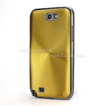 finest selection 85d35 0e8b1 CD Veins Hard Aluminum Case for Samsung Galaxy Note 2 N7100 Case / Note II  N7100 - Gold