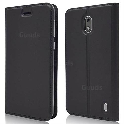 Ultra Slim Card Magnetic Automatic Suction Leather Wallet Case for Nokia 2 - Star Grey