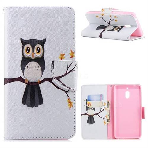 Owl on Tree Leather Wallet Case for Nokia 2.1