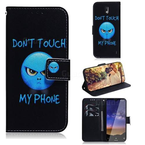 Not Touch My Phone PU Leather Wallet Case for Nokia 2.2