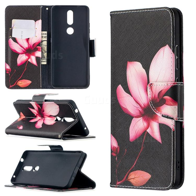 Lotus Flower Leather Wallet Case for Nokia 2.4
